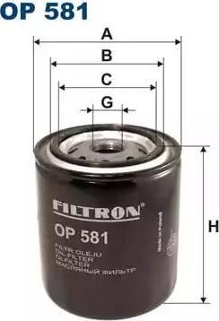 Filtron OP581 - Фильтр, Гидравлическая система привода рабочего оборудования autodnr.net