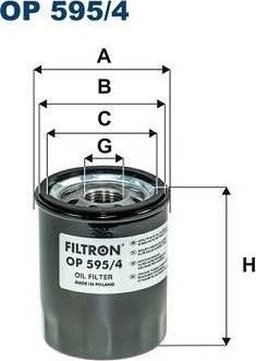 Filtron OP595/4 - Масляний фільтр autocars.com.ua