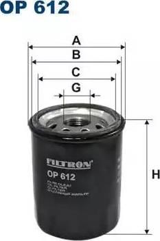 Filtron OP612 - Масляный фильтр autodnr.net