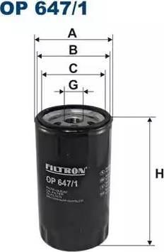 Filtron OP6471 - Фильтр, Гидравлическая система привода рабочего оборудования avtokuzovplus.com.ua