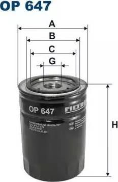 Filtron OP647 - Фильтр, Гидравлическая система привода рабочего оборудования avtokuzovplus.com.ua