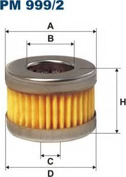 Filtron PM999/2 - Топливный фильтр autodnr.net