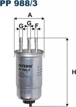 Filtron PP988/3 - Топливный фильтр autodnr.net