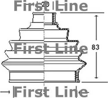 First Line FCB2004 - Пыльник, приводной вал car-mod.com