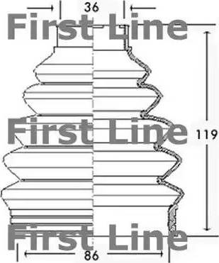 First Line FCB2280 - Пильник, приводний вал autocars.com.ua