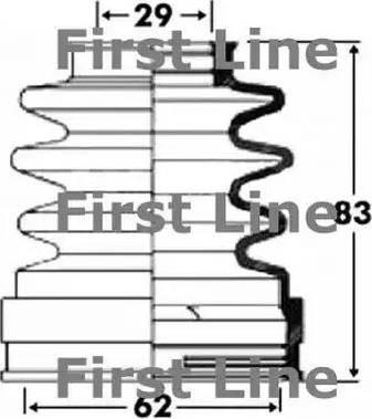 First Line FCB2897 - Пильник, приводний вал autocars.com.ua