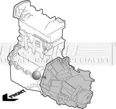 First Line FEM3334 - Подушка, підвіска двигуна autocars.com.ua