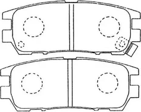 FIT FP0567 - Комплект тормозных колодок, дисковый тормоз autodnr.net