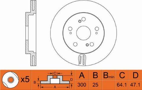 FIT FR0316V - Тормозной диск autodnr.net