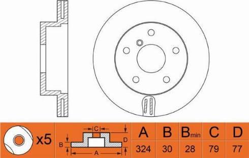 FIT FR0491V - Тормозной диск autodnr.net