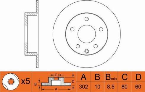 FIT FR0512 - Тормозной диск autodnr.net