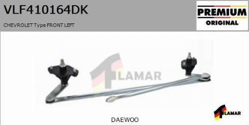 FLAMAR VLF410164DK - Система тяг и рычагов привода стеклоочистителя car-mod.com