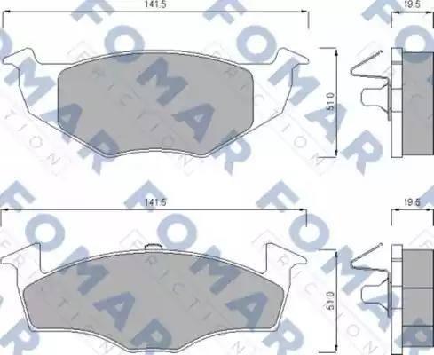 FOMAR Friction FO 643281 - Комплект тормозных колодок, дисковый тормоз autodnr.net