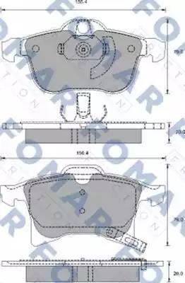 FOMAR Friction FO 918881 - Тормозные колодки, дисковые car-mod.com