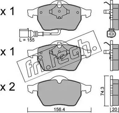 Fri.Tech. 188.4 - Тормозные колодки, дисковые car-mod.com