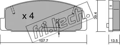 Fri.Tech. 311.0 - Комплект тормозных колодок, дисковый тормоз autodnr.net