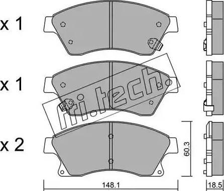 Fri.Tech. 855.0 - Тормозные колодки, дисковые car-mod.com