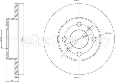 Fri.Tech. BD0003 - Тормозной диск autodnr.net