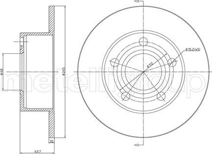 Fri.Tech. BD0060 - Тормозной диск autodnr.net