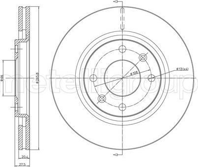 Fri.Tech. BD0257 - Тормозной диск autodnr.net