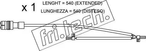 Fri.Tech. SU.262 - Сигнализатор, износ тормозных колодок autodnr.net