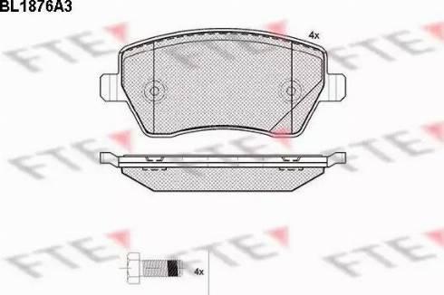 FTE BL1876A3 - Комплект тормозных колодок, дисковый тормоз autodnr.net