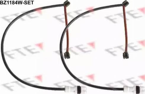 FTE BZ1184W-SET - Сигнализатор, износ тормозных колодок autodnr.net