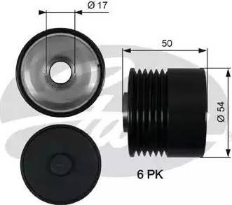 Gates OAP7188 - Шкив, муфта генератора car-mod.com