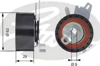 Gates T43145 - Натяжна ролик, ремінь ГРМ autocars.com.ua