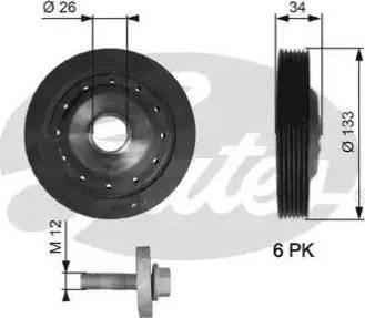 Gates TVD1113A - Ременный шкив, коленчатый вал car-mod.com