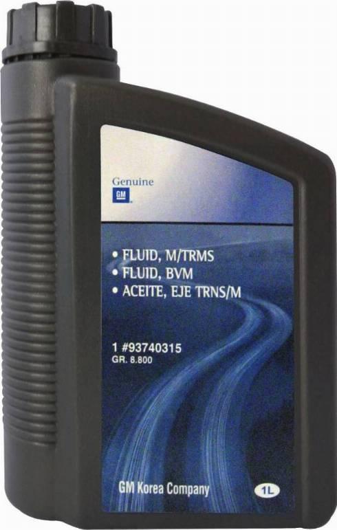 General Motors 93740315 - Масло, вспомогательный привод car-mod.com