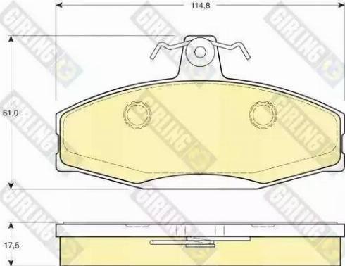Girling 6112801 - Комплект тормозных колодок, дисковый тормоз autodnr.net
