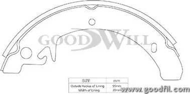 GoodWill 2110rb - Комплект тормозов, барабанный тормозной механизм autodnr.net