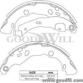 GoodWill 2125rb - Комплект тормозов, барабанный тормозной механизм autodnr.net