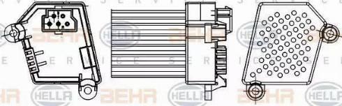 HELLA 5HL 351 311-521 - Регулятор, вентилятор салона car-mod.com