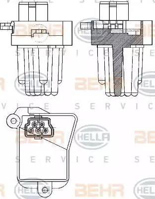 HELLA 5HL 351 321-331 - Регулятор, вентилятор салона car-mod.com