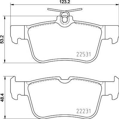 HELLA 8DB 355 025-491 - Тормозные колодки, дисковые car-mod.com