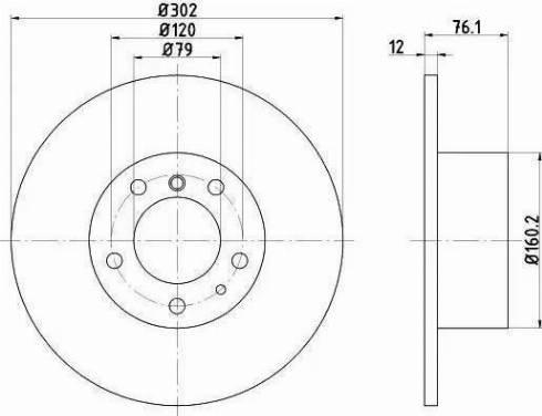 HELLA 8DD 355 127-021 - Тормозной диск autodnr.net