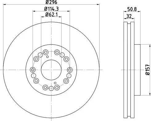 HELLA 8DD 355 107-971 - Тормозной диск autodnr.net