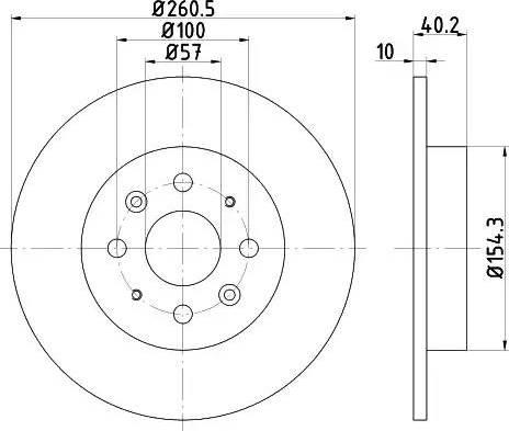 HELLA 8DD 355 114-081 - Тормозной диск autodnr.net