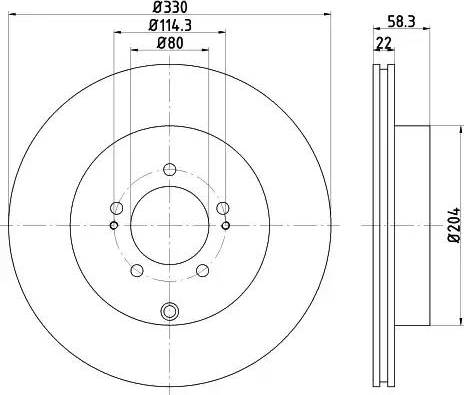 HELLA 8DD 355 116-881 - Тормозной диск autodnr.net
