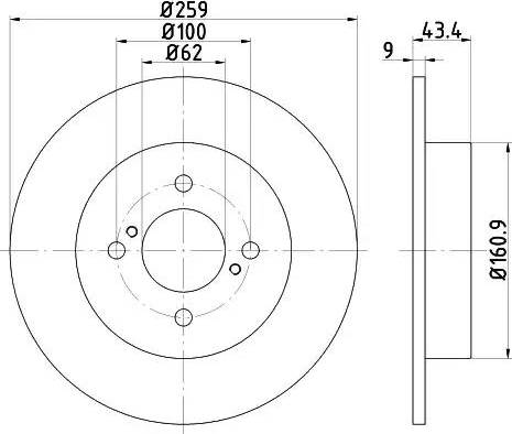 HELLA 8DD 355 118-511 - Тормозной диск autodnr.net