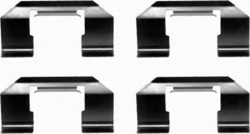 HELLA 8DZ 355 202-491 - Комплектующие, колодки дискового тормоза autodnr.net