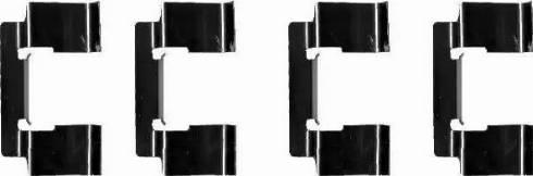 HELLA 8DZ 355 202-741 - Комплектующие, колодки дискового тормоза autodnr.net