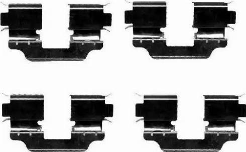HELLA 8DZ 355 203-171 - Комплектующие, колодки дискового тормоза autodnr.net