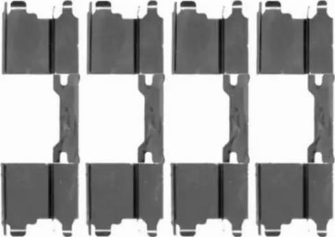 HELLA 8DZ 355 203-501 - Комплектующие, колодки дискового тормоза avtokuzovplus.com.ua