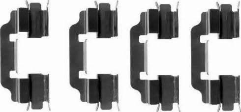 HELLA 8DZ 355 204-901 - Комплектующие, колодки дискового тормоза autodnr.net