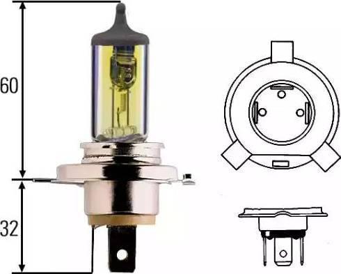 HELLA 8gj002525341 - Лампа накаливания, основная фара autodnr.net
