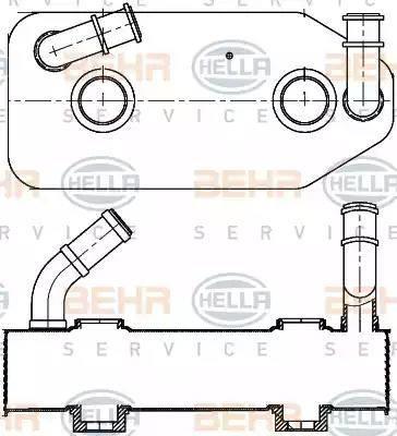 HELLA 8mo376787681 - Масляный радиатор, автоматическая коробка передач autodnr.net