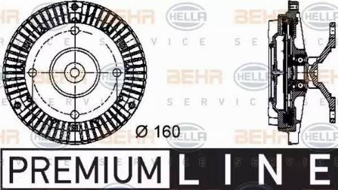 HELLA 8MV 376 732-051 - Сцепление, вентилятор радиатора autodnr.net